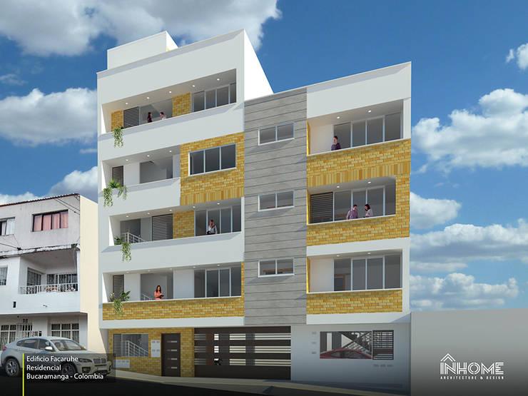 EDIFICIO FACARUHE: Casas multifamiliares de estilo  por INHOME Architecture & Design