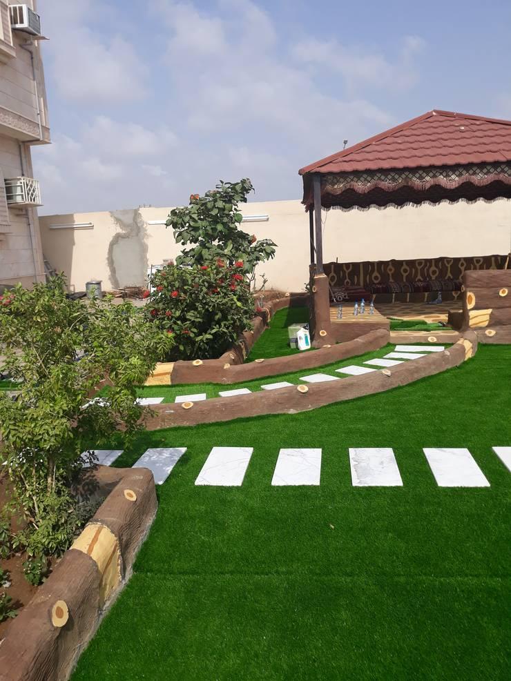 تصميم وتزين وتنسيق الحدائق والشلالات والنوفير وزراعة :   تنفيذ تنسيق الحدائق