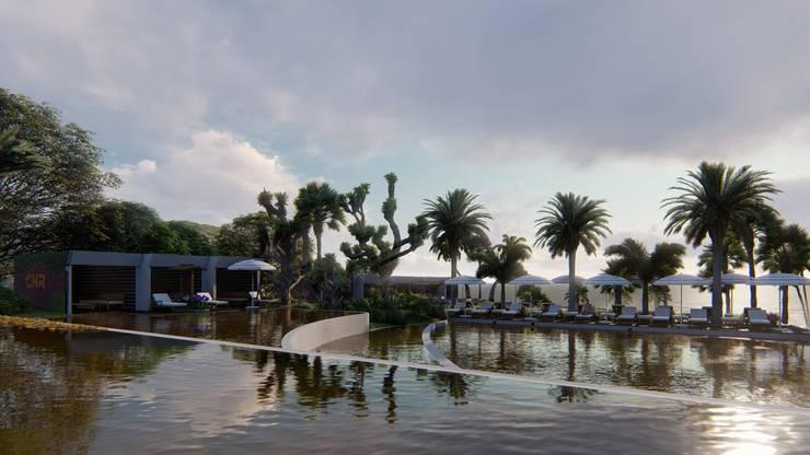Swimming pond by CNR İNŞAAT VE MİMARLIK, Modern