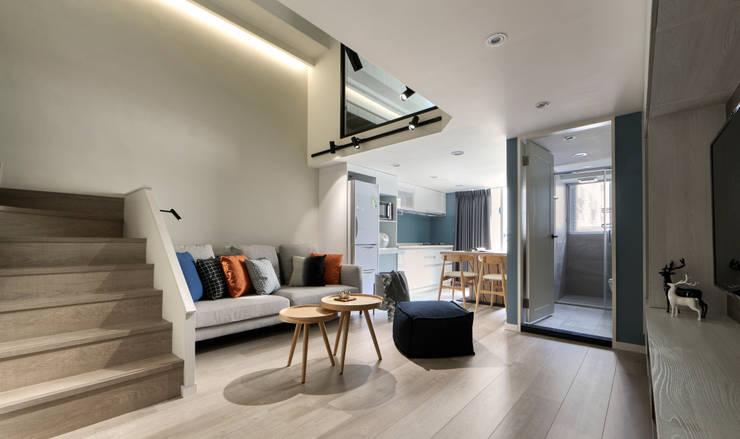 制高點:  客廳 by 耀昀創意設計有限公司/Alfonso Ideas