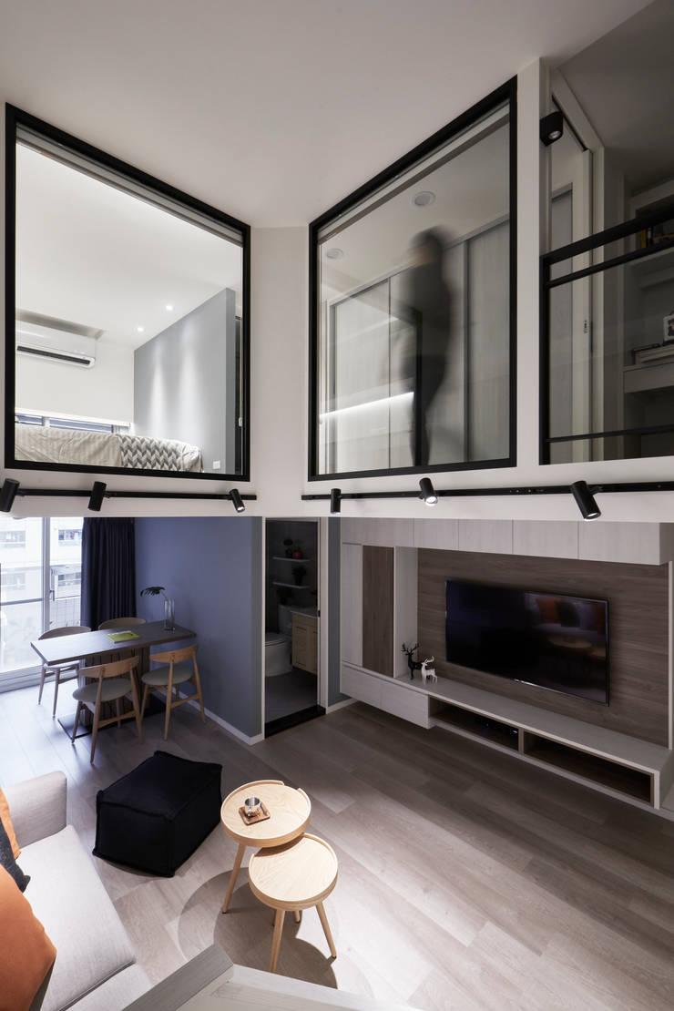 悅心:  走廊 & 玄關 by 耀昀創意設計有限公司/Alfonso Ideas