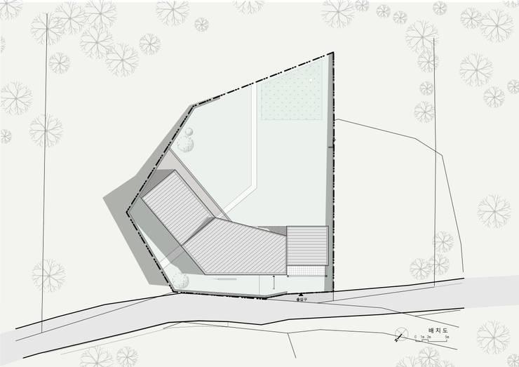 곤지암 단독주택-'품': (주)건축사사무소 더함 / ThEPLus Architects의  ,