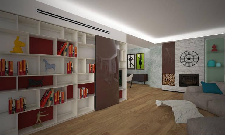 Living: Soggiorno in stile  di B+P architetti