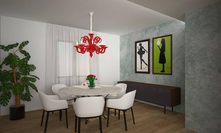 Sala da pranzo: Sala da pranzo in stile  di B+P architetti