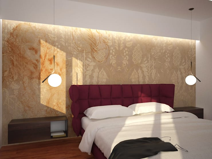 Camera da letto: Camera da letto in stile  di B+P architetti