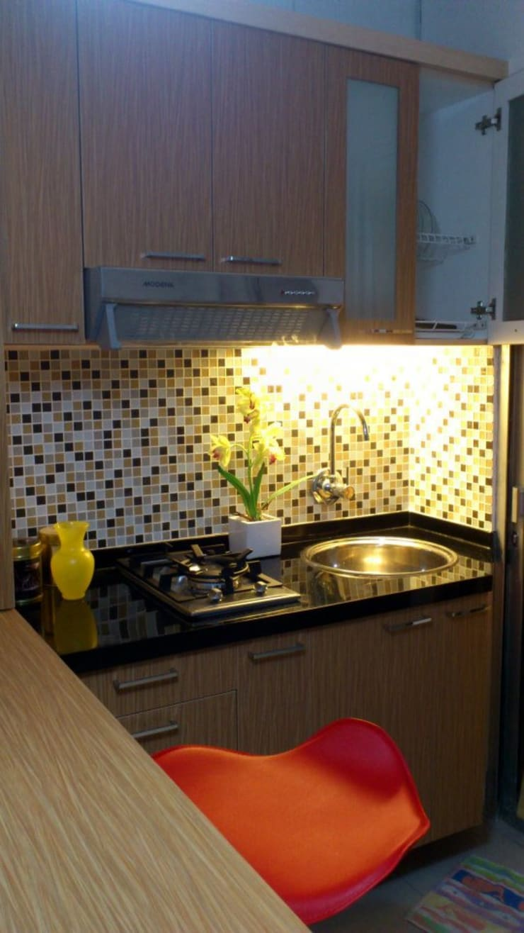 Apartemen Green Palace Kalibata : Dapur kecil  oleh PT Solusi Eka Optima, Minimalis