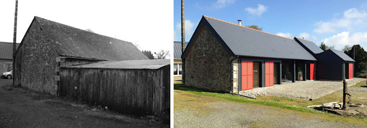 Réhabilitation d'un corps de ferme:  de style  par Créateurs d'interieur