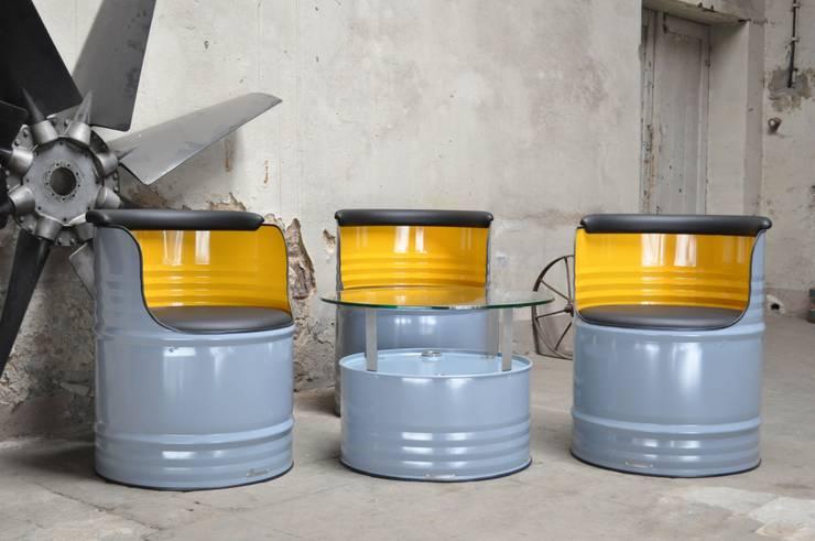 200 Liter Fass Sitzgruppe von Fasszination Customized   homify