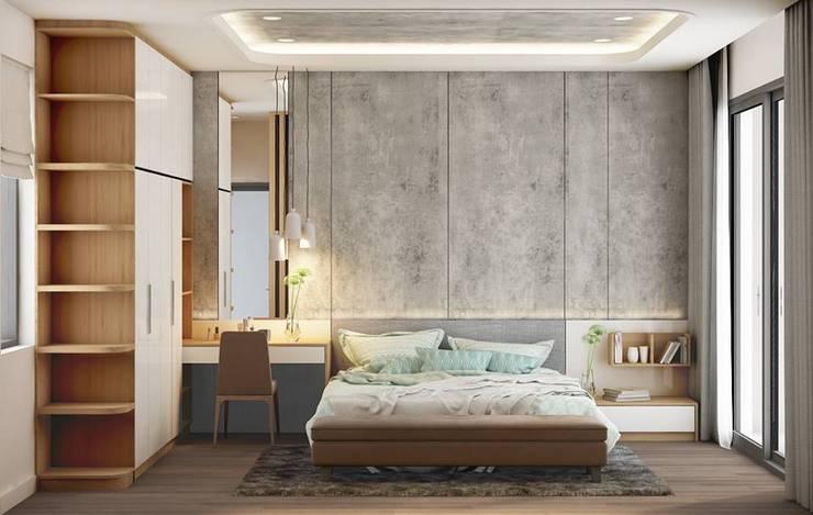 nội thất phòng ngủ master hiện đại:  Phòng ngủ by Công ty TNHH Nội Thất Mạnh Hệ