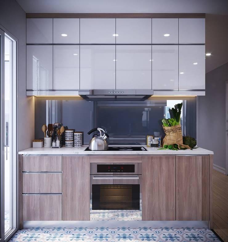 hệ thống tủ bếp sang trọng và hiện đại:  Nhà bếp by Công ty TNHH Nội Thất Mạnh Hệ