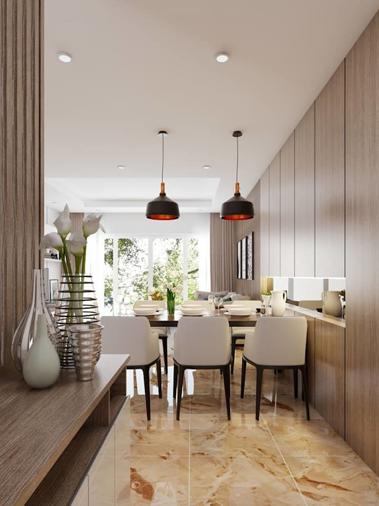 không gian phòng bếp:  Nhà bếp by Công ty TNHH Nội Thất Mạnh Hệ