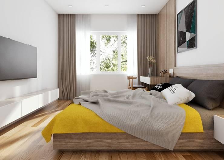 Kleines Schlafzimmer von Công ty TNHH Nội Thất Mạnh Hệ,