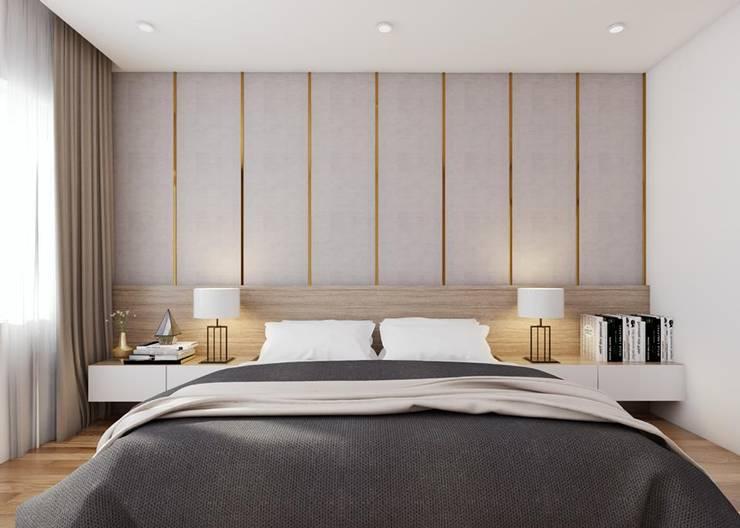 Nội thất phòng ngủ master đẳng cấp:  Phòng ngủ by Công ty TNHH Nội Thất Mạnh Hệ