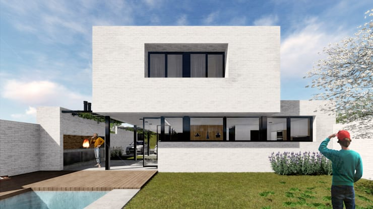 Houses by VP Arquitectura, Modern Bricks