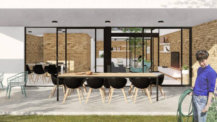 Terrasse von VP Arquitectura, Modern Ziegel