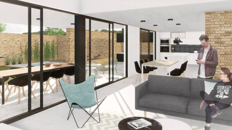 Wohnzimmer von VP Arquitectura, Modern Ziegel