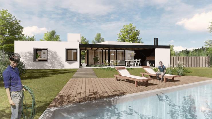 Casa CT: Casas unifamiliares de estilo  por VP Arquitectura