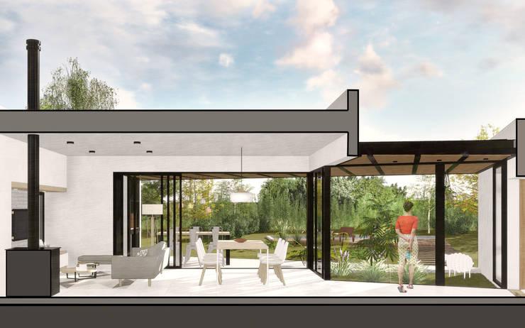 Casa CT: Livings de estilo  por VP Arquitectura