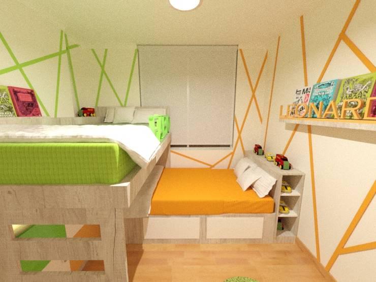 Dormitorio Compartido: Dormitorios infantiles de estilo  por Inspira