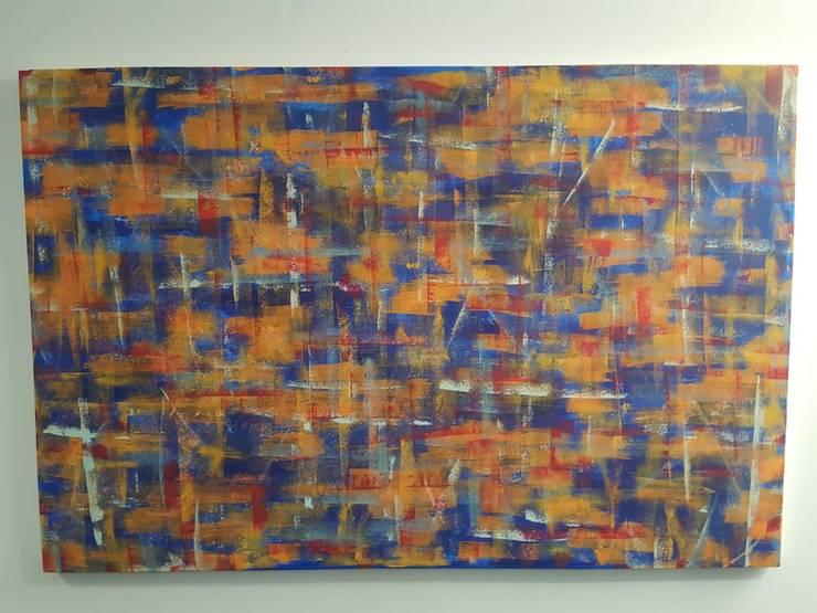 Pintura abstracta No. 1: Hogar de estilo  por Fegami Art