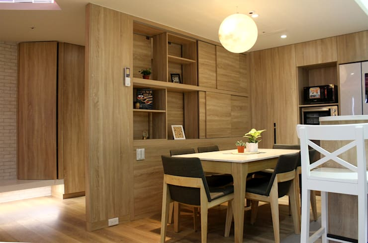 Kitchen units by 圓方空間設計, Modern Plywood