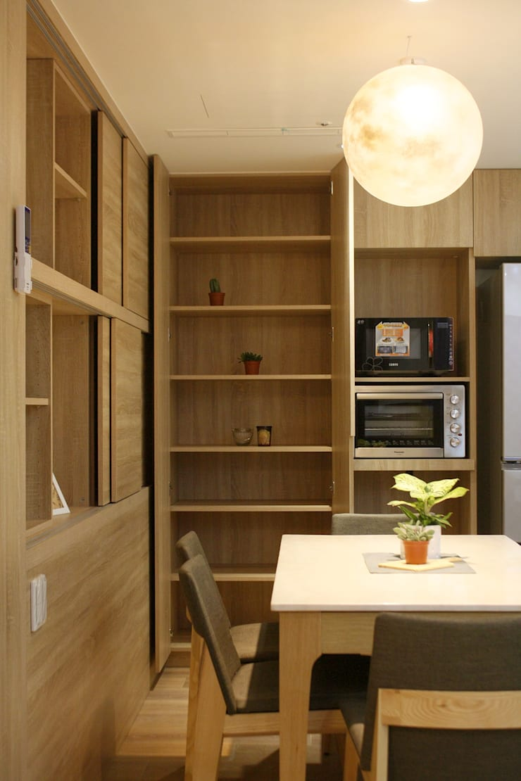 Dining room by 圓方空間設計, Modern Plywood