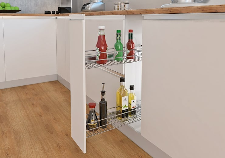 Botelleros y condimenteros:  de estilo  por Remodelar Proyectos Integrales, Moderno Hierro/Acero