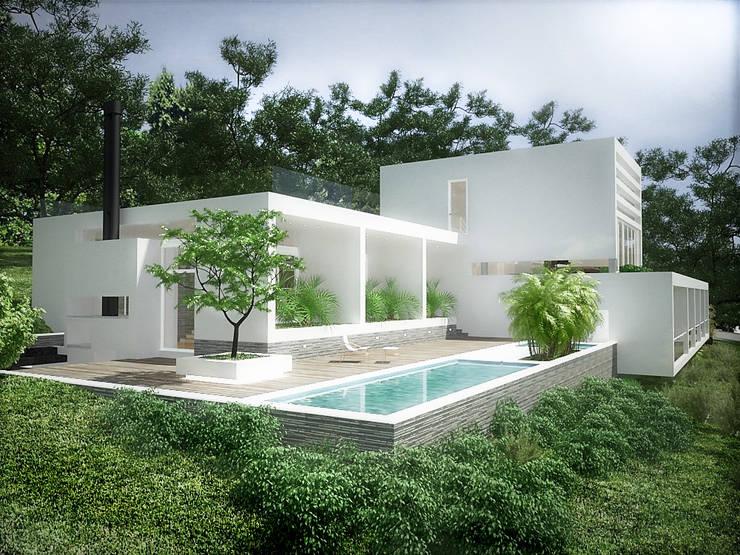 Sonoma: Piscinas de jardín de estilo  por RRA Arquitectura