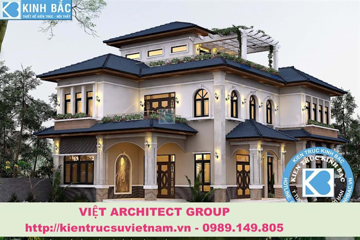 Công trình biệt thự 3 tầng kiến trúc tân cổ điển:   by Việt Architect Group
