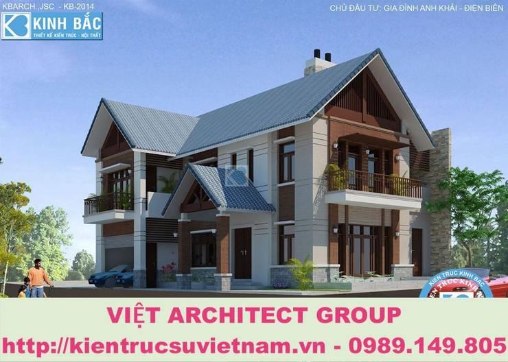 Công trình biệt thự 2 tầng kiến trúc mái thái ở Lai Châu:   by Việt Architect Group