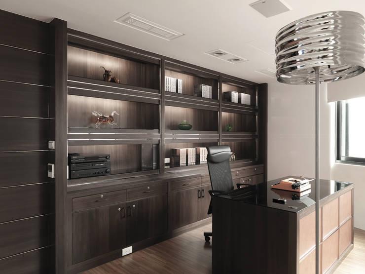 K HOUSE:  書房/辦公室 by 形構設計 Morpho-Design