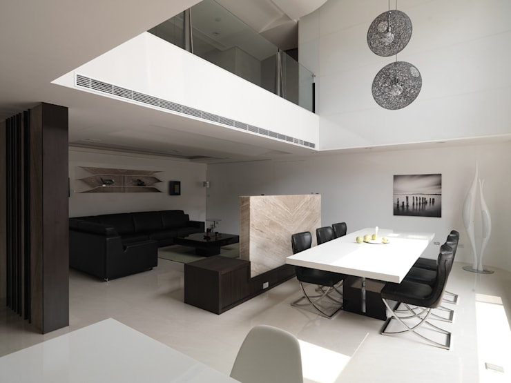 K HOUSE:  餐廳 by 形構設計 Morpho-Design