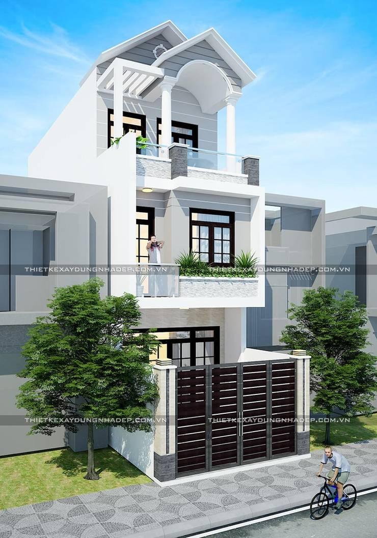 Bản vẽ thiết kế nhà 4x12m:  Nhà nhỏ by Công ty cổ phần tư vấn kiến trúc xây dựng Nam Long