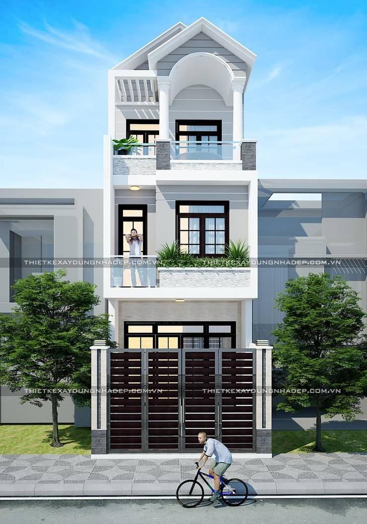 Bản vẽ thiết kế nhà 4x12m:  Nhà gia đình by Công ty cổ phần tư vấn kiến trúc xây dựng Nam Long