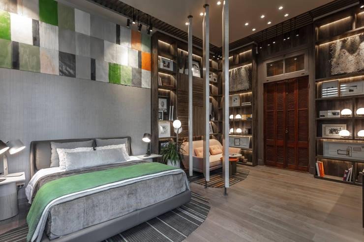 Casa FOA 2018 : Dormitorios pequeños de estilo  por Estudio Viviana Melamed,