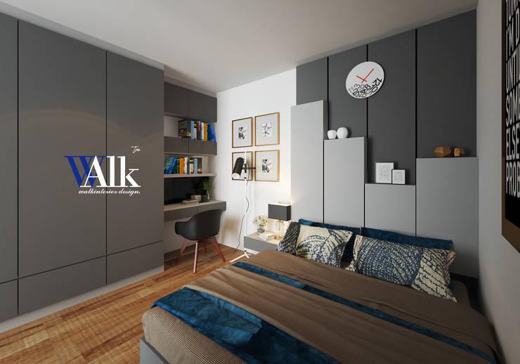 bedroom:  ตกแต่งภายใน by interir design work