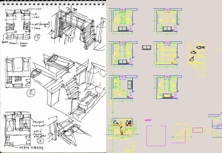 schizzi di progetto:  in stile  di Daniele Arcomano