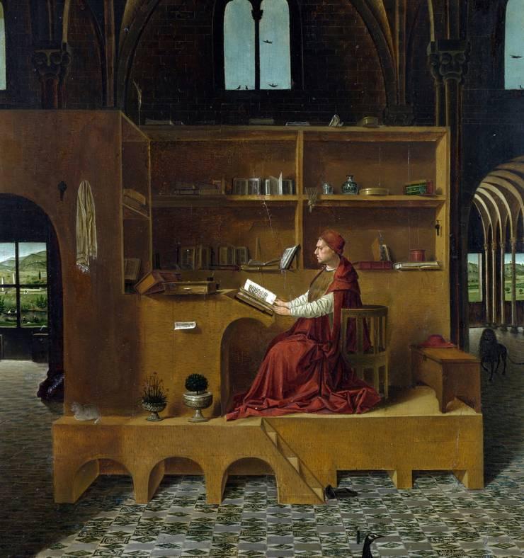 Lo studio di S. Girolamo, di Antonello da Messina:  in stile  di Daniele Arcomano