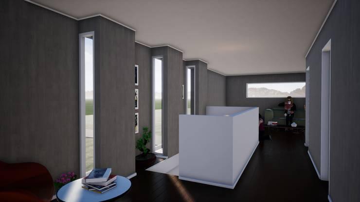 Ventanas segundo piso_ Render_3D: Ventanas de madera de estilo  por BIM Urbano