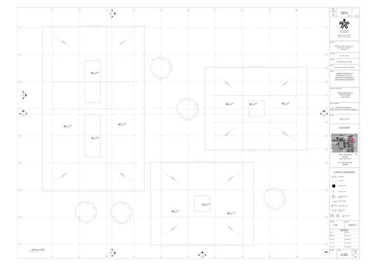 Cubierta del proyecto laboratorio Univalle: Escaleras de estilo  por JV RVT