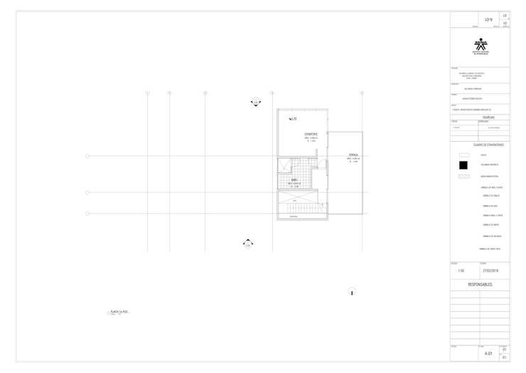 2 do. piso del proyecto.: Casas multifamiliares de estilo  por JV RVT
