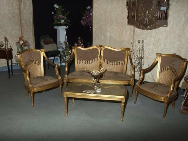 اثاث منزلي فاخر :  غرفة المعيشة تنفيذ روزادا مصرية