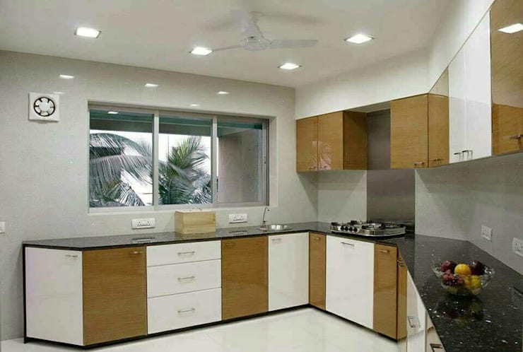 Beautiful kitchen designs for home. :  Kitchen units by ECLECTIC INTERIORS AND SERVICES
