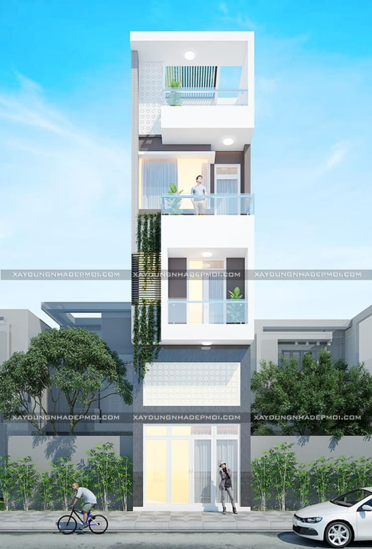 Thiết kế nhà đẹp quận Tân Bình:  Nhà gia đình by Công ty xây dựng nhà đẹp mới