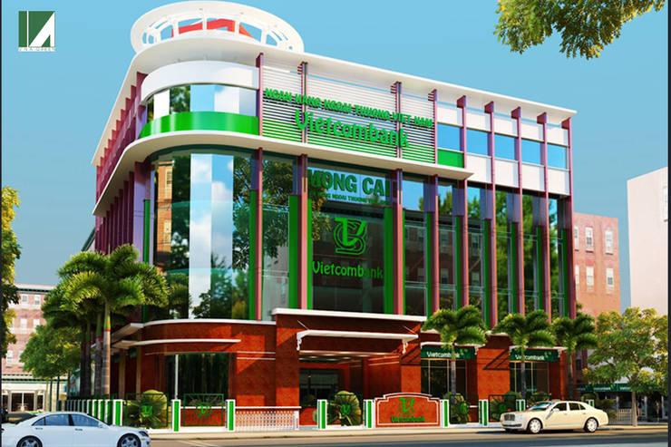 NGÂN HÀNG VIETCOMBAN - MÓNG CÁI :   by công ty cổ phần Thiết kế Kiến trúc Việt Xanh