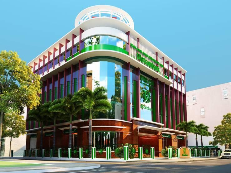 NGÂN HÀNG VIETCOMBAN – MÓNG CÁI :   by công ty cổ phần Thiết kế Kiến trúc Việt Xanh