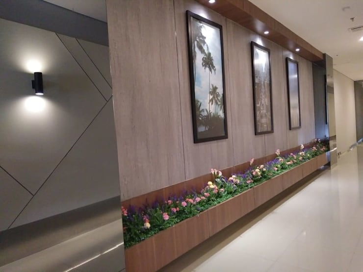 Interior Lobby Resepsionis Bandara City Apartment:   by PT. PANCAR KREASI ABADI