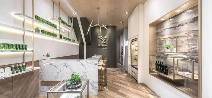 養食|Living-a-better-life Organic Grocery:  餐廳 by 理絲室內設計有限公司 Ris Interior Design Co., Ltd.
