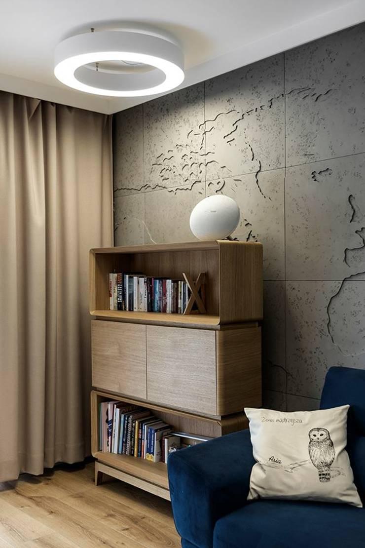 Гостиная в . Автор – Loft Design System Deutschland - Wandpaneele aus Bayern, Модерн