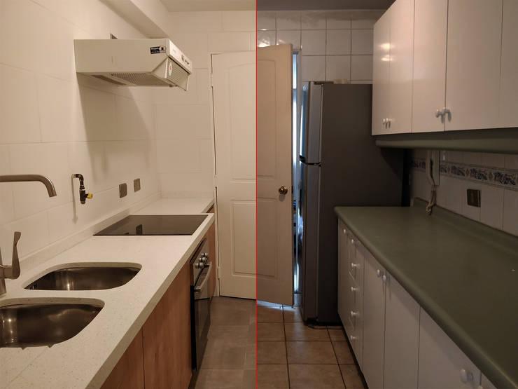 Antes y después de la cocina:  de estilo  por Lares Arquitectura